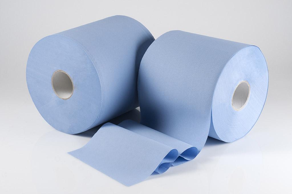 Bobina blu carta igienica